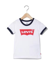 バットウィングロゴ リンガーTシャツ WHITE(90-120cm)