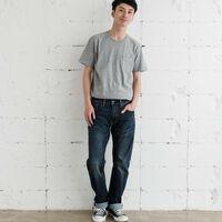 レギュラーフィット/ミディアムインディゴ/KAMETPEAK/COOLジーンズ/9oz