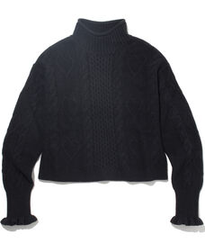 ニットプルオーバー  BLACK