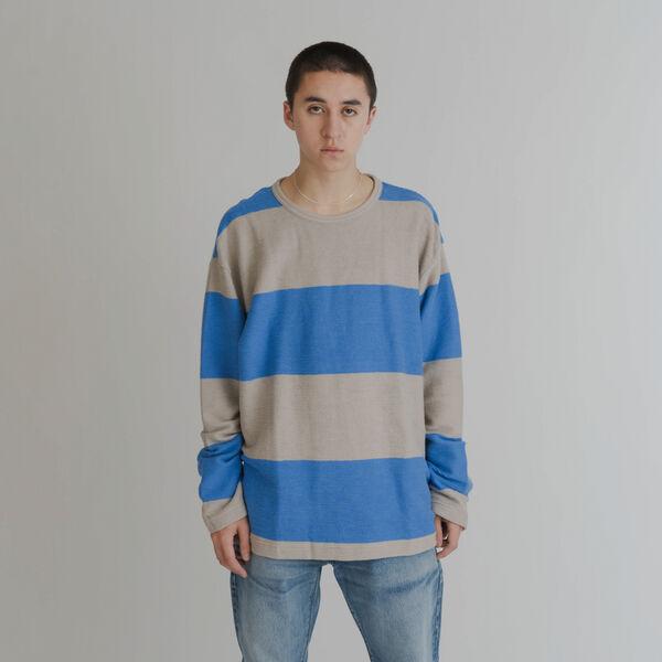 LS TEXTURAL Tシャツ REGATTA STRIPE MULTI