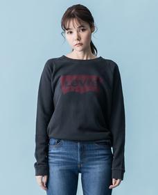 バットウィングロゴスウェットシャツ-ブラック