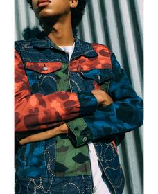 Zip Front Trucker Jacket BAPE PATCHWORK