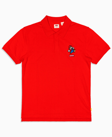 AUTHENTIC ロゴポロシャツ MARIO POLO RED