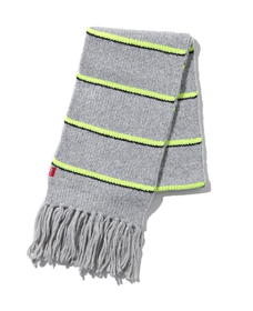Womens Neon Striped Scarf