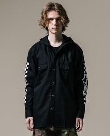 フーデットワーカーシャツ ULTRA BLACK