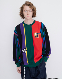 CREW  GRPHC FIT VERTICAL VARSITY FOREST BIOME