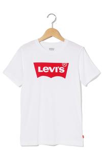 バットウィングロゴTシャツ ホワイト (身長130-150CM)