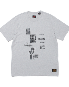 SKATE グラフィックTシャツ LSC HEATHER GREY FLIER BLACK