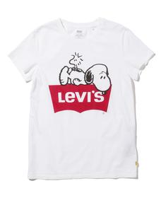 バットウィングロゴ Tシャツ PEANUTS