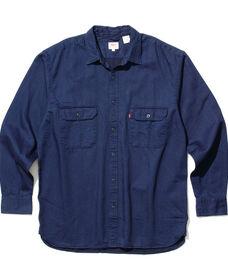 オーバーサイズ ワーカーシャツ インディゴ