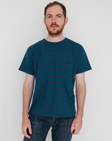 1940'S SPLIT HEM Tシャツ LVC BLUE RED