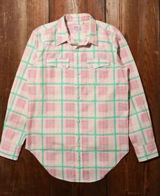 LEVI'S® VINTAGE CLOTHING WESTERN SHORTHORN PINK MULTI