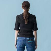 ロゴリブスリムTシャツ MINERAL BLACK GROUND EMBROIDERY