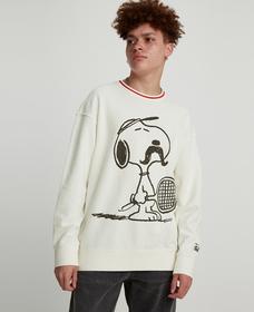 リラックスクルーネックスウェット Tennis Snoopy Marshmallow
