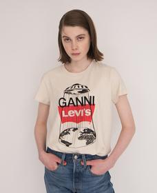 GANNI PERFECT Tシャツ UFO NATURAL HEMP