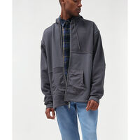 UTILITY POCKET HOODIE PATCHWORK GRAY ORE