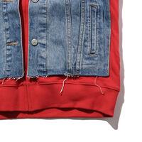 フーデットトラッカージャケット PIGGY BACK RED