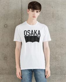 バットウィングTシャツ-OsakaDestination/ホワイト