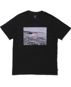 グラフィッククルーネックTシャツ BI Photo Garment Dye Jet Black