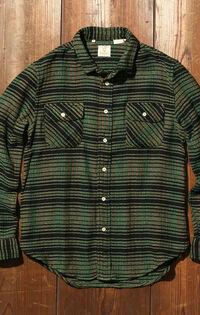 ショートホーンシャツ BOTTLE GREEN MULTI PLAID