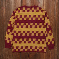 1980'S ロングスリーブTシャツ OXBLOOD CHECKER