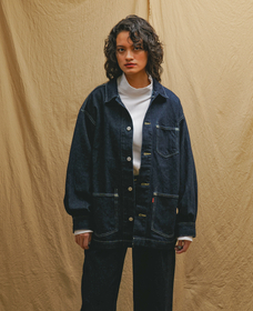 LR DENIM CHORE COAT MIDNIGHT HOURS