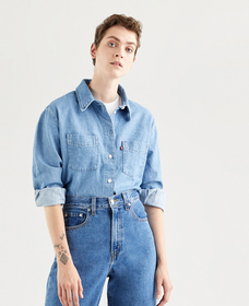 ZOEY PLEAT UTILITY SHIRT STAY COOL 2