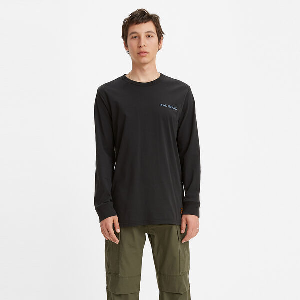 SKATE グラフィックロングスリーブTシャツ LSC JET BLACK PEAK
