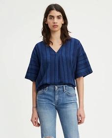 フィールドシャツ INKY PONCHO STRIPE MULTI