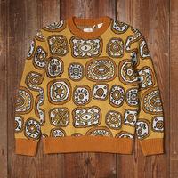 クルーネックセーター GOLD EYES GOLD ECRU