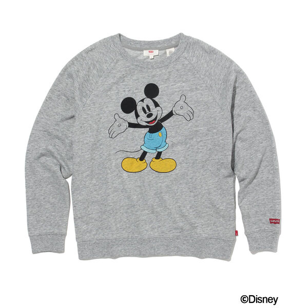 グラフィッククルーネックスウェットシャツ MICKEY