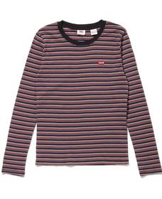 ロングスリーブ BABY Tシャツ CORDIERITE CAVIAR STRIPE