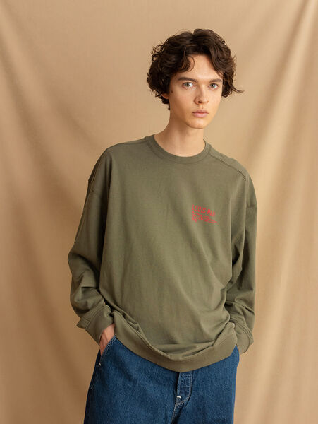 LR LS Tシャツ DUSTY OLIVE