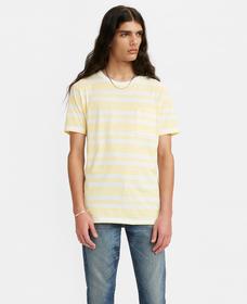 POCKET Tシャツ GOLDIE MULTI STRIPE