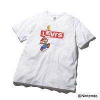グラフィッククルーネックTシャツ MARIO BOXTAB BING WHITE