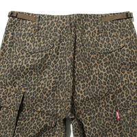 カーゴショーツ  PATCHY CHEETAH BACK SATIN