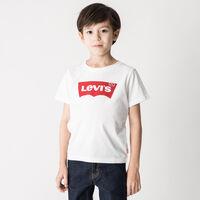 バットウィングロゴTシャツ ホワイト (身長90-120CM)