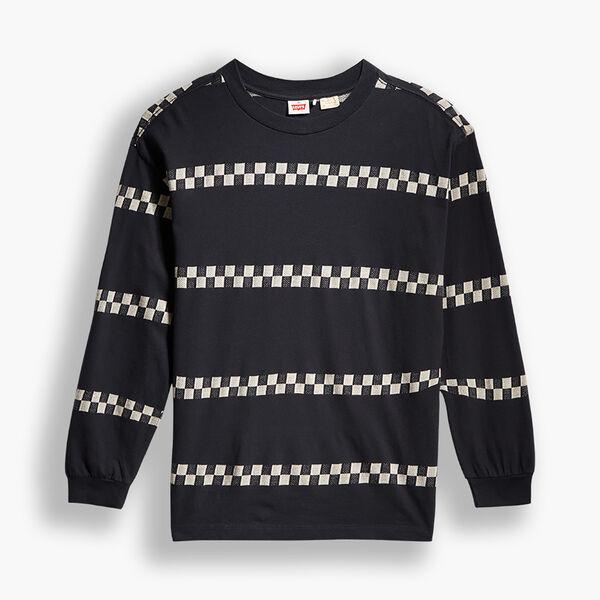 1980'S ロングスリーブTシャツ BLACK CHECKER